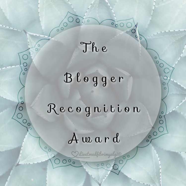 The Blogger Recognition Award 2017